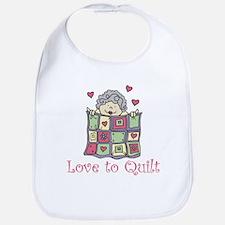 Love to Quilt Bib