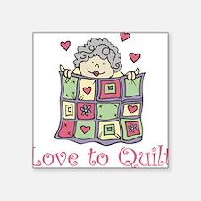 Love to Quilt Sticker