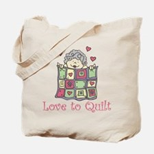 Love to Quilt Tote Bag