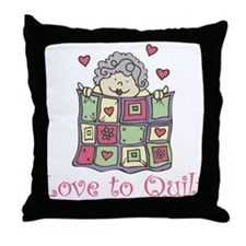 Love to Quilt Throw Pillow