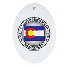 Colorado Denver South LDS Mission State Flag Ornam