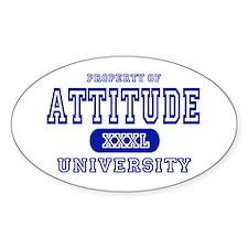 Attitude University Oval Decal