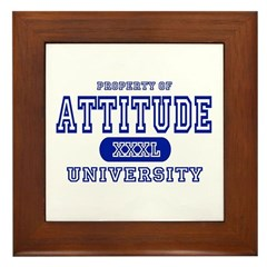 Attitude University Framed Tile
