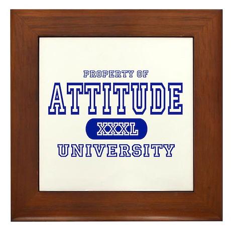 Attitude University Framed Tile