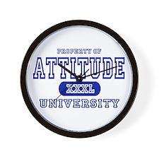 Attitude University Wall Clock