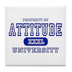 Attitude University Tile Coaster