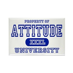 Attitude University Rectangle Magnet