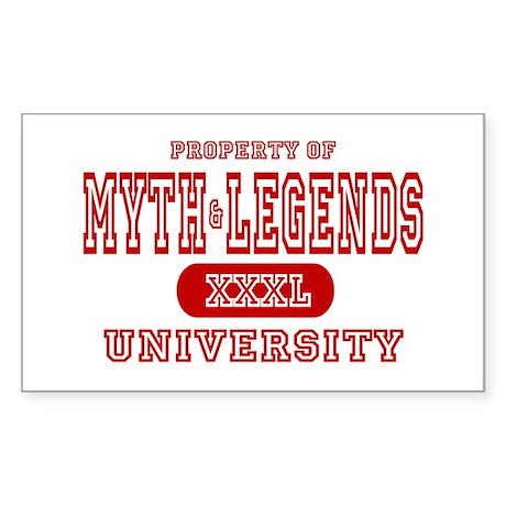 Myth & Legends University Rectangle Sticker