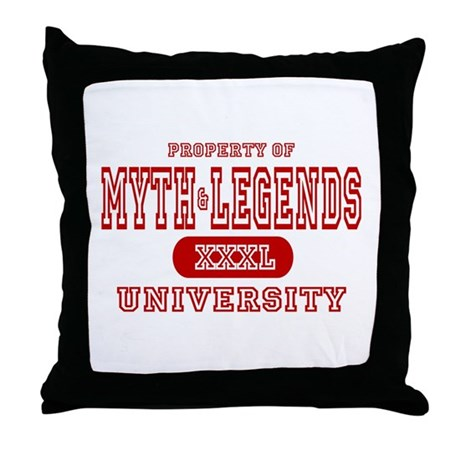 Myth & Legends University Throw Pillow