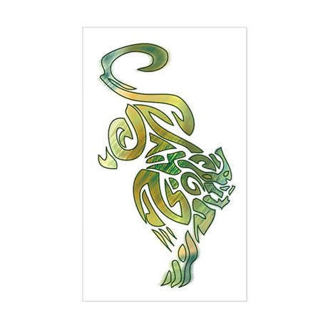 Tribal Panther 6 Rectangle Sticker