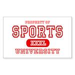 Sports University Rectangle Sticker