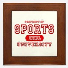 Sports University Framed Tile