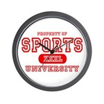 Sports University Wall Clock