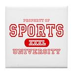 Sports University Tile Coaster
