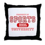 Sports University Throw Pillow