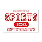 Sports University Mini Poster Print