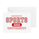Sports University Greeting Cards (Pk of 10)