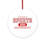 Sports University Ornament (Round)
