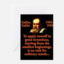 To Apply Oneself - Galileo Greeting Cards