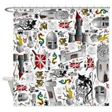 Medieval Mash-up Shower Curtain