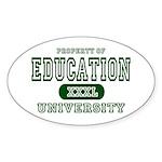 Education University Oval Sticker