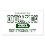 Education University Rectangle Sticker
