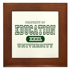Education University Framed Tile