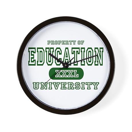 Education University Wall Clock