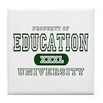 Education University Tile Coaster