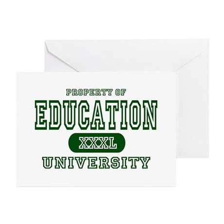 Education University Greeting Cards (Pk of 10)