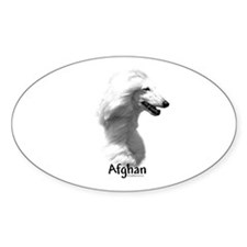 Afghan Charcoal Oval Decal