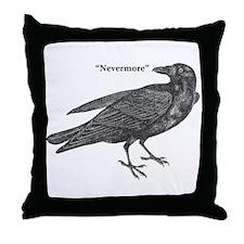 Nevermore Raven Throw Pillow