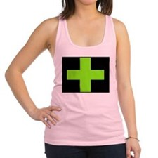 Neon Green Medical Cross (black background) Racerb