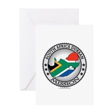 South Africa Durban LDS Mission Flag Cutout Map Gr
