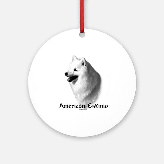 Eskimo Charcoal Ornament (Round)