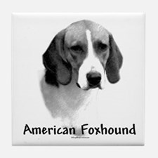 Foxhound Charcoal Tile Coaster