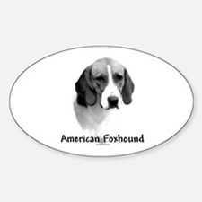 Foxhound Charcoal Oval Decal