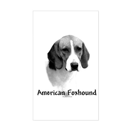 Foxhound Charcoal Rectangle Sticker