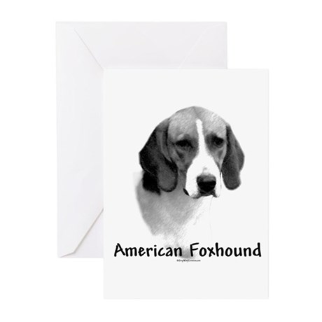 Foxhound Charcoal Greeting Cards (Pk of 10)