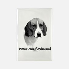 Foxhound Charcoal Rectangle Magnet
