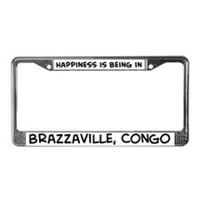 Happiness is Brazzaville License Plate Frame