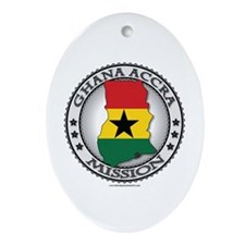 Ghana Accra LDS Mission Flag Cutout Map Ornament (