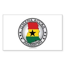 Ghana Accra LDS Mission Flag Cutout Map Decal