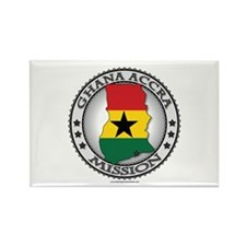 Ghana Accra LDS Mission Flag Cutout Map Rectangle