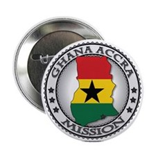 """Ghana Accra LDS Mission Flag Cutout Map 2.25"""" Butt"""