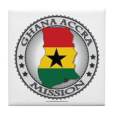 Ghana Accra LDS Mission Flag Cutout Map Tile Coast
