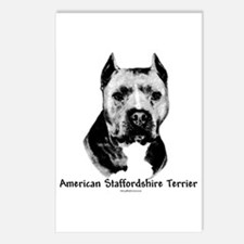 Am Staff Charcoal Postcards (Package of 8)