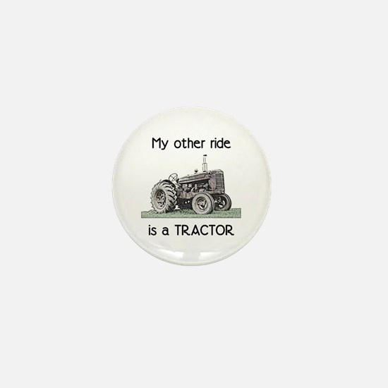 Ride a Tractor Mini Button