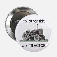 """Ride a Tractor 2.25"""" Button (10 pack)"""