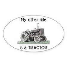 Ride a Tractor Oval Decal